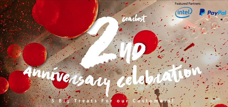 gearbest.com- 2nd Anniversary Sale