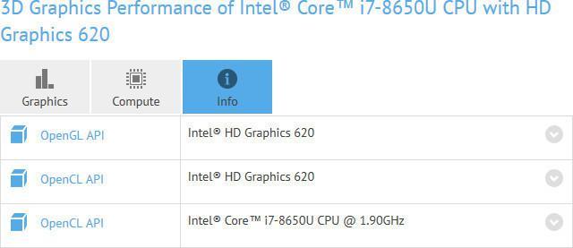 intel i7 8650U