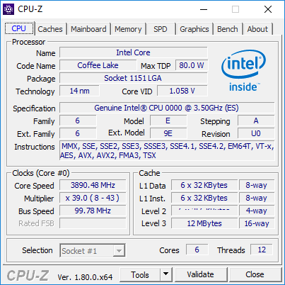 intel-coffee-lake-6-core cpuz