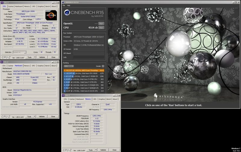 AMD Ryzen Threadripper 1950X 5,37 GHz