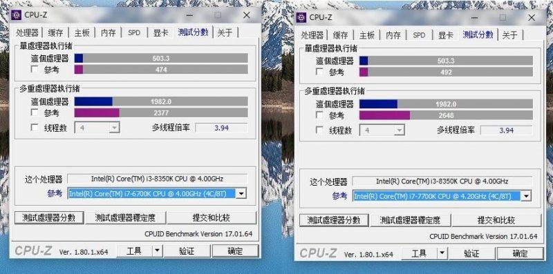intel core i3 8350k porownanie z i7 skylake kaby lake