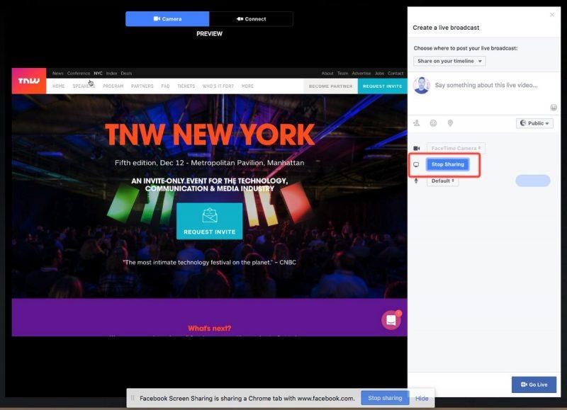 facebook live streamowanie ekran