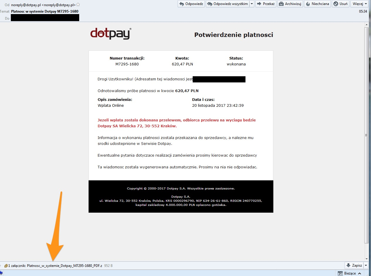 platnosc dotpay ransomware