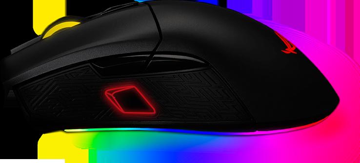 asus gladius II origin mysz myszka dla graczy gaming rgb