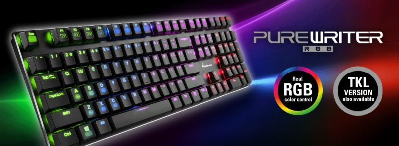 sharkoon purewriter tkl rgb red blue