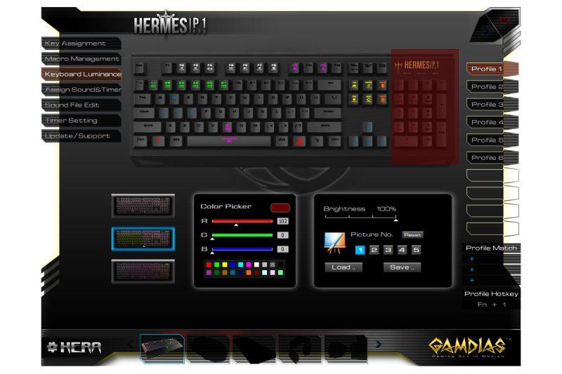 Gamdias Hermes P1 RGB - oprogramowanie4