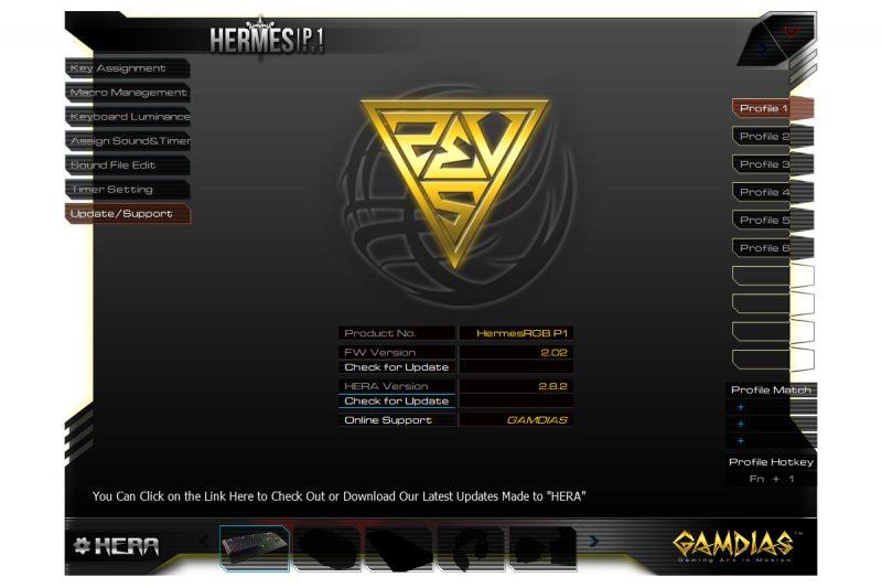 Gamdias Hermes P1 RGB - oprogramowanie9