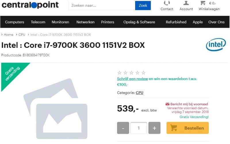 i7-9700k cena
