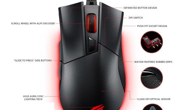 Asus Gladius II Origin mysz myszka gamingowa rgb 2