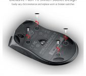 Asus Gladius II Origin mysz myszka gamingowa rgb 4